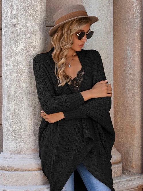 Black Knit Cocoon Cardi, M/L
