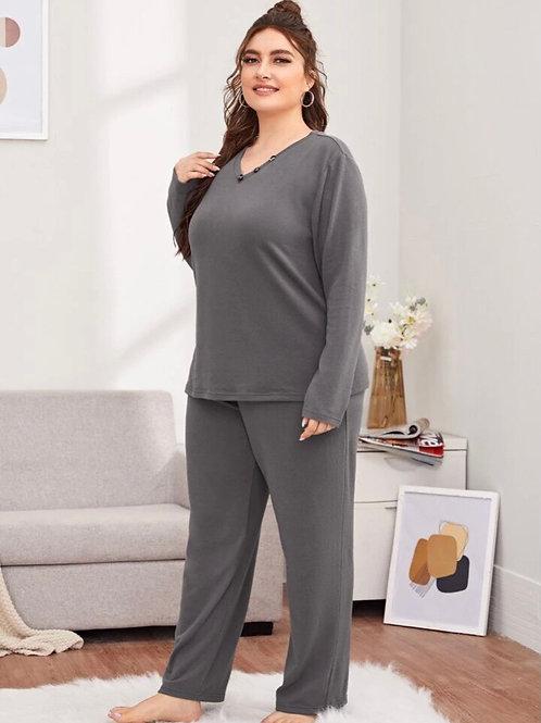 Gray Pajama Set, 3XL