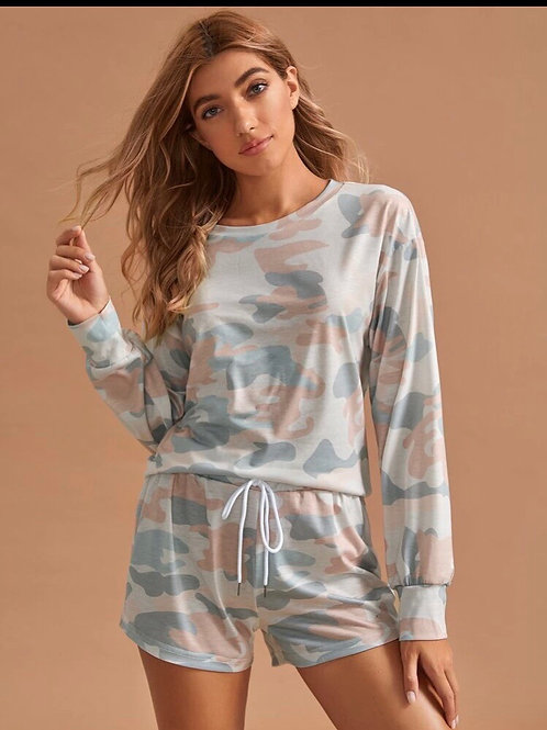 Camo Pajama/lounge Set, L