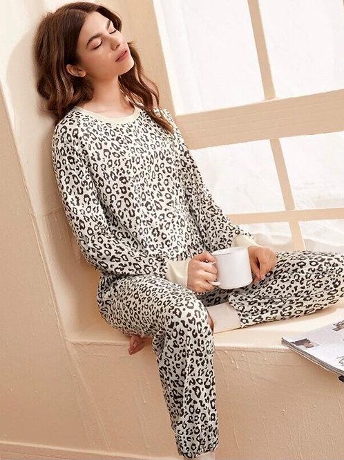 Leopard pajama/lounge set, L