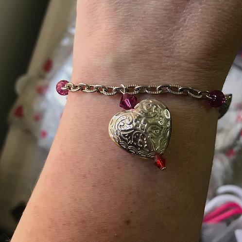 3 of Hearts Charm Bracelet