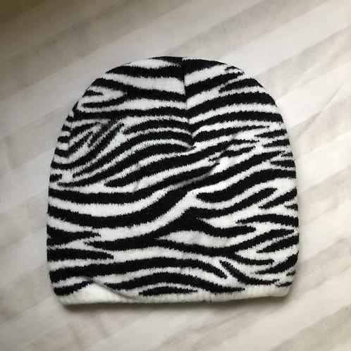 Zebra Winter Beanie Hat, child/teen
