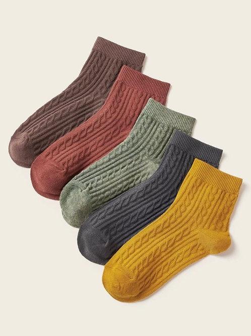 Cableknit Ankle Socks Set