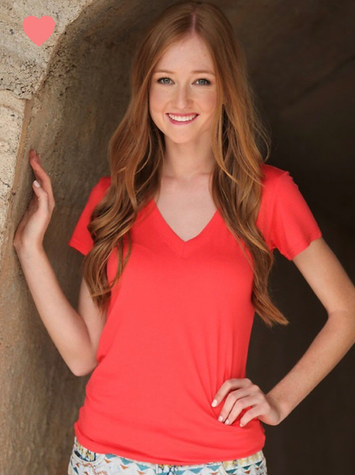 Coral V tee