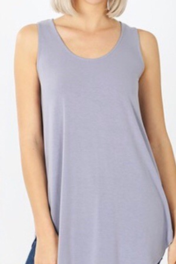Scoop Neck Tank, lavender,1XL, 2XL