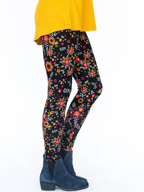 Leggings, Wildflowers, XL