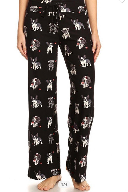 Soft Pajama Pants, dog print