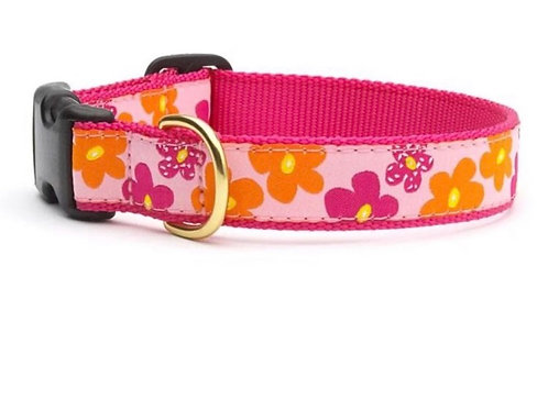 Candy Flowers Dog Collar, S