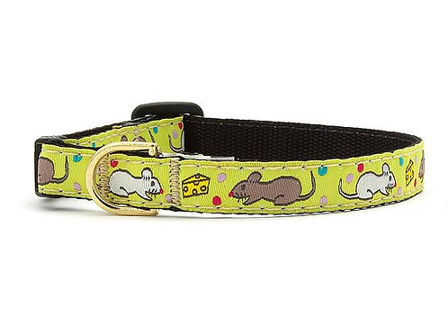 """Mouse Party Cat Collar, 10"""""""