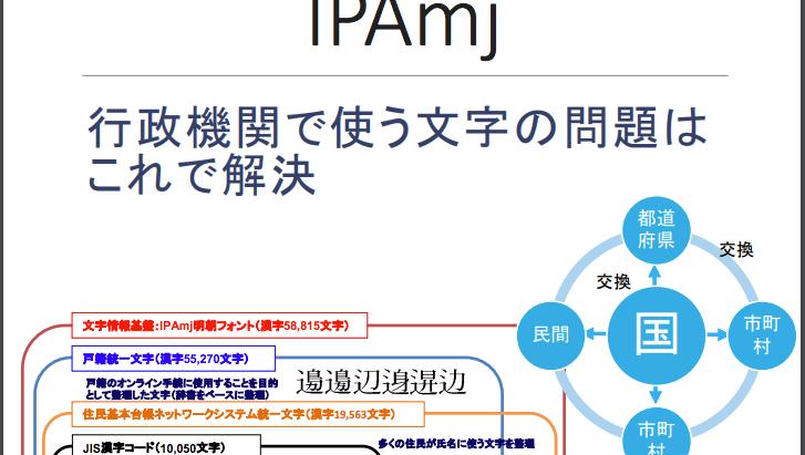 PCで使える漢字が1万字から6万字へ