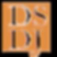 DSDJ Logo in orange and white