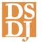 DSDJ Logo in orange and white