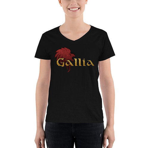 Women's Casual V-Neck Shirt - Gallia