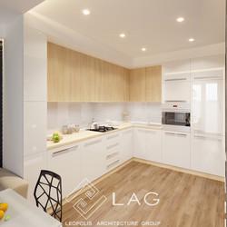дизайн інтер'єру кухні-їдальні