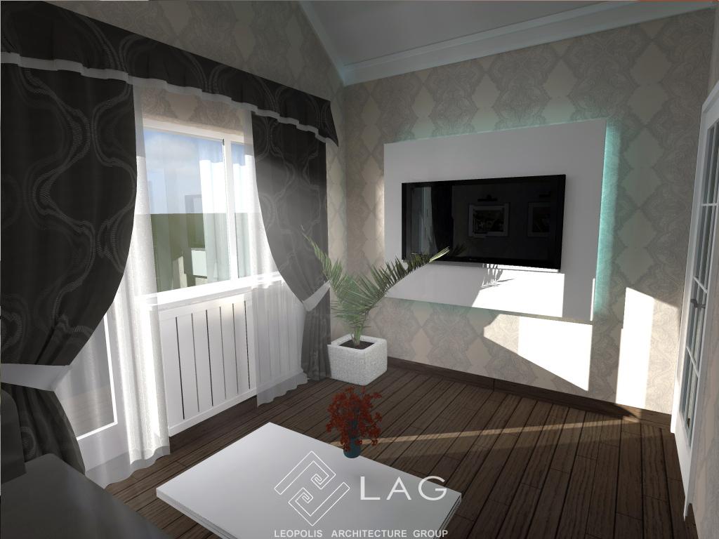 дизайн інтер'єру кімнати відпочинку