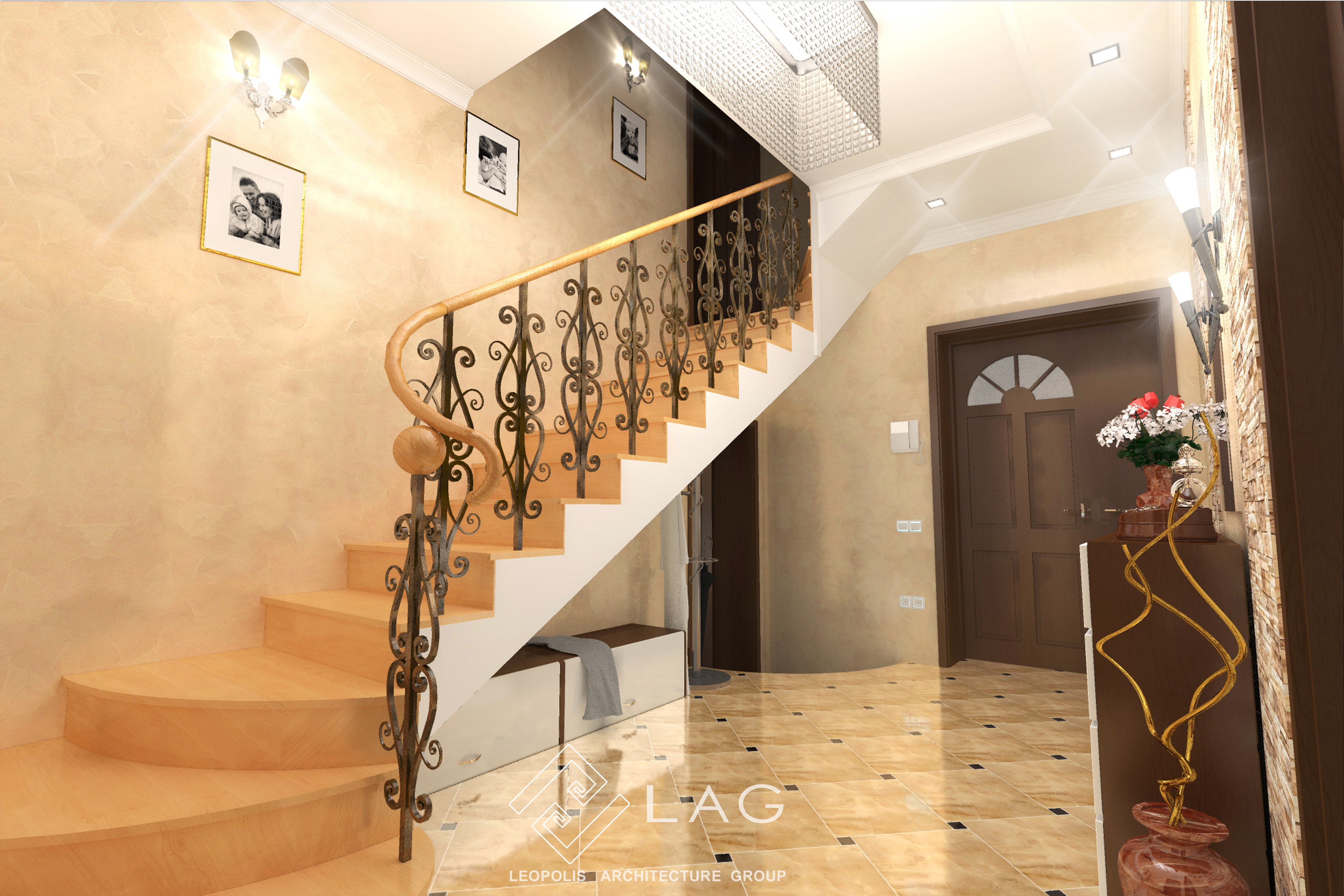 Дизайн інтер'єру холу та коридору