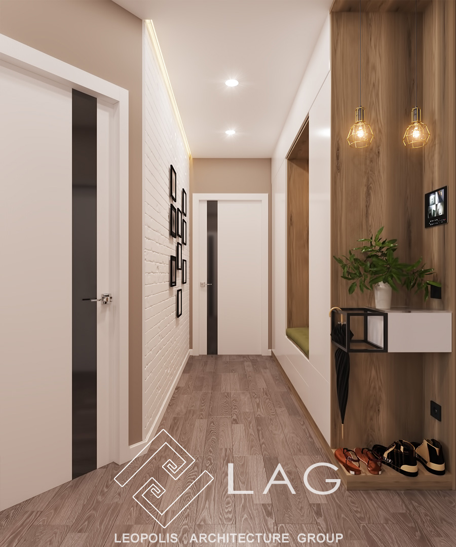 дизайн інтер'єру коридору