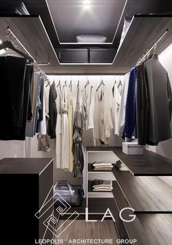 дизайн інтер'єру гардеробної кімнати