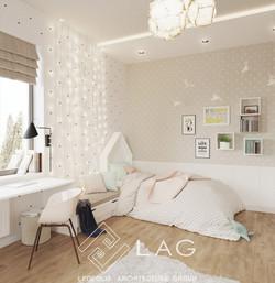 дизайн інтер'єру кімнати дівчаток