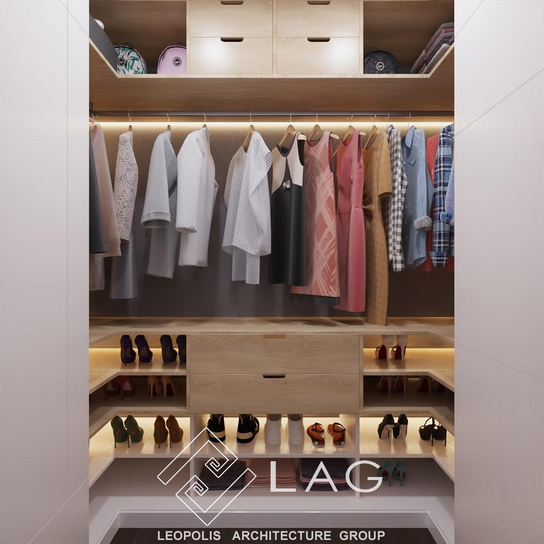 дизайн гардеробної кімнати