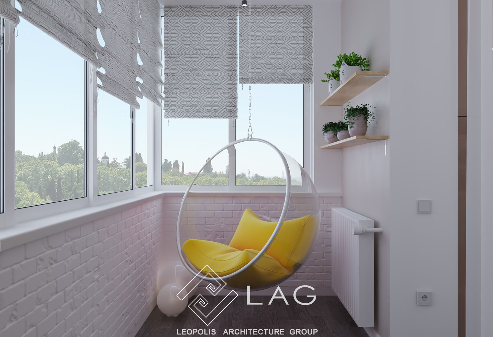 дизайн інтер'єру лоджії