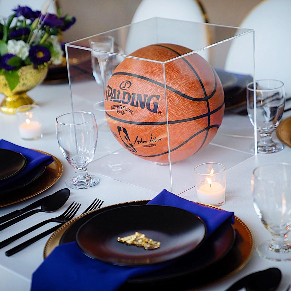 LAKERS Birthday Dinner Table Setting