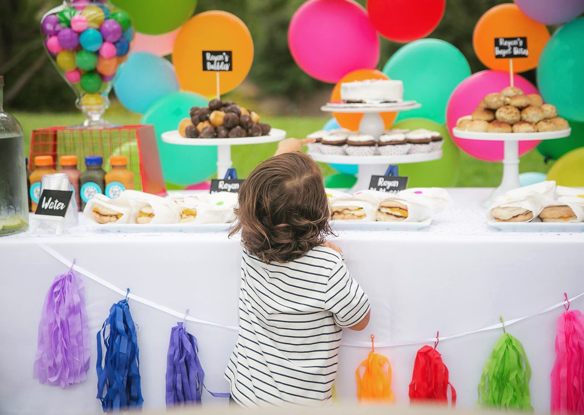 Toddler's Colorful Birthday Theme