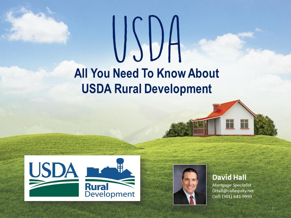 USDA - Updated Jan 2017 -David Hall