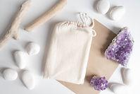 Mock up of tarot deck cotton bag with te