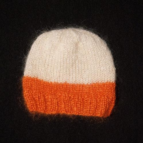 Bonnet Alexia bicolore Ecru/Orange
