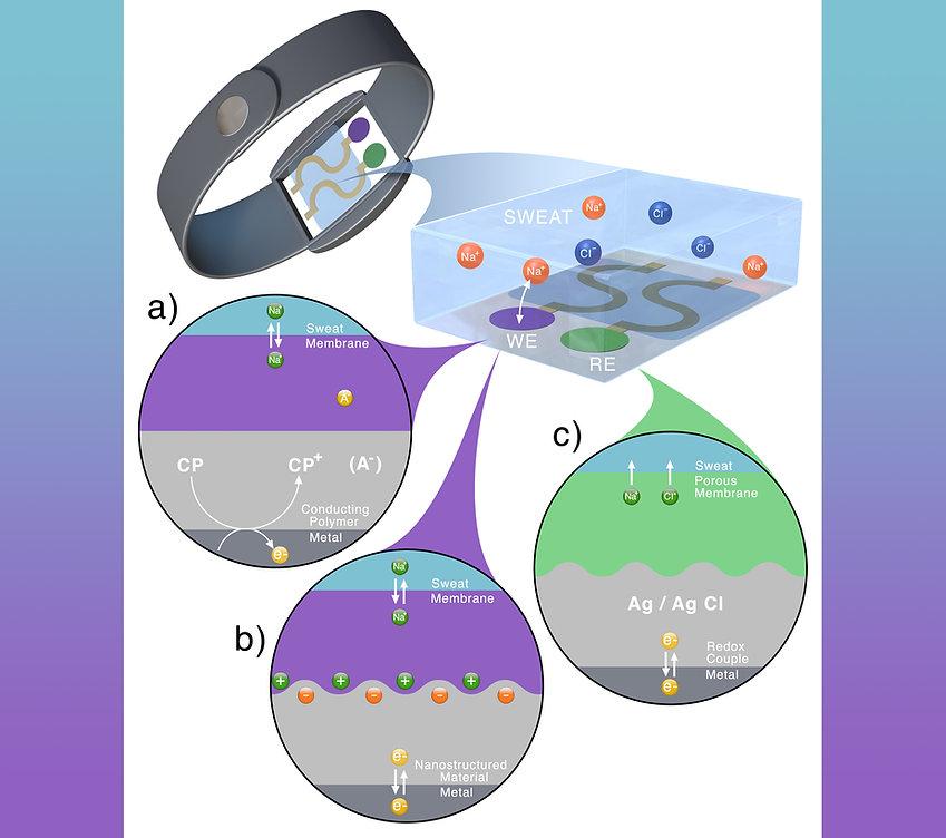 medical wrist sensor electrochemical mechanism