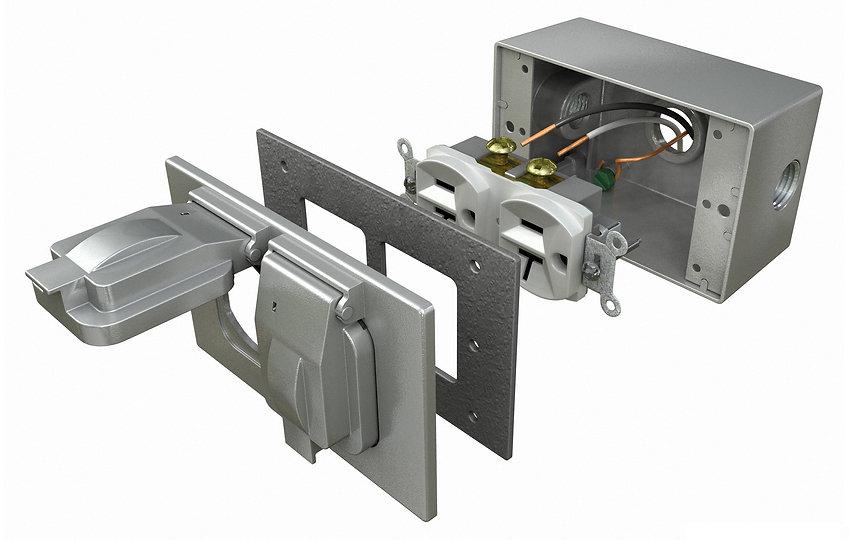 Duplex Recepticle cutaway