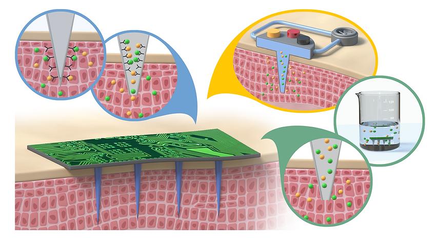 Transdermal measurement using microneedle sensors