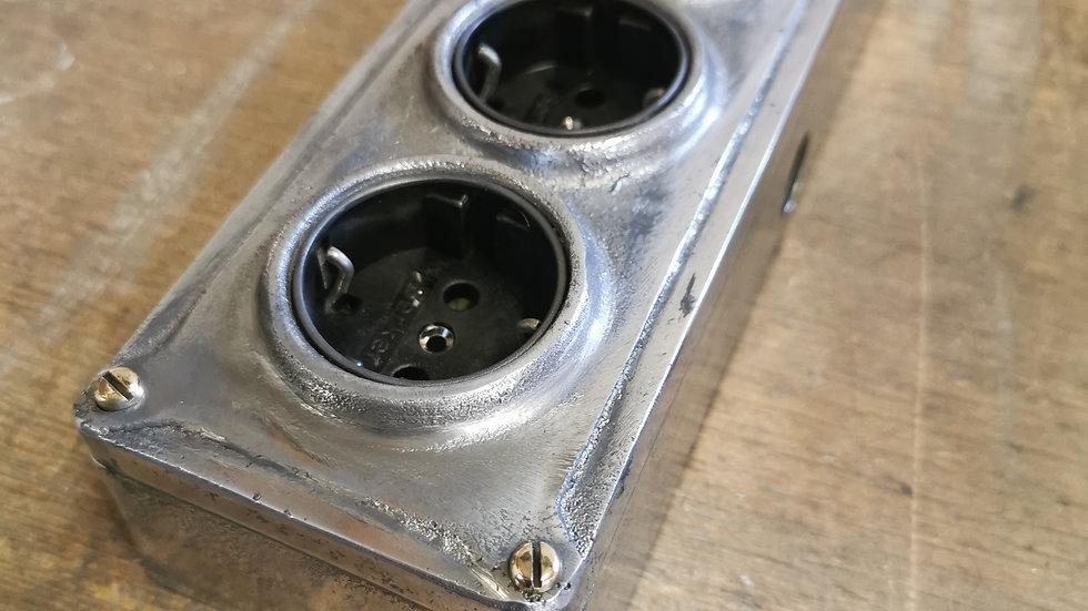 Cast Aluminium 4 Gang Long Power Socket