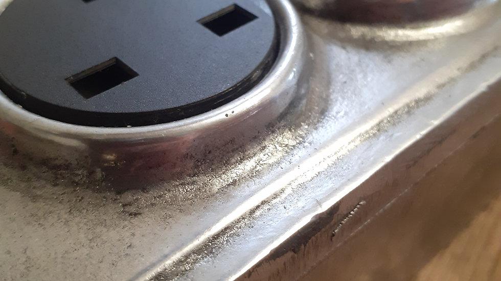 Cast Aluminium 2 Gang Power Socket