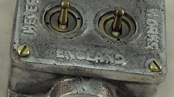 2 Gang Retrofit Cast Aluminium Light Switch