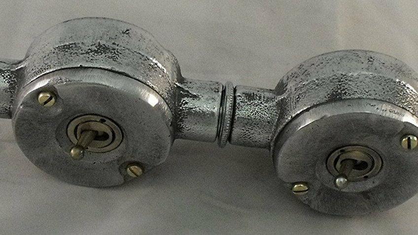 Cast Aluminium 2 Gang Conduit Light Switch