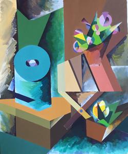 """Натюрморт """"Коробка и табурет"""", 2015"""