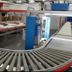 知名貨運代理公司的物流倉庫成功設置自動分揀系統