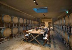 Barrel room dinner.