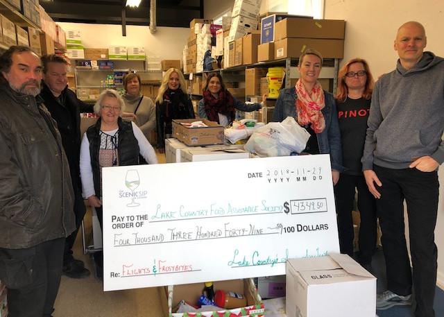 Lake Country Food Bank Donation.