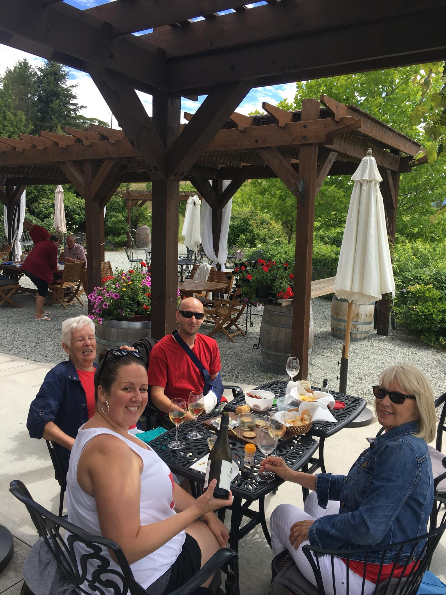 Lunch on the patio.