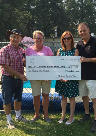 Winfield Easter Seals Donation