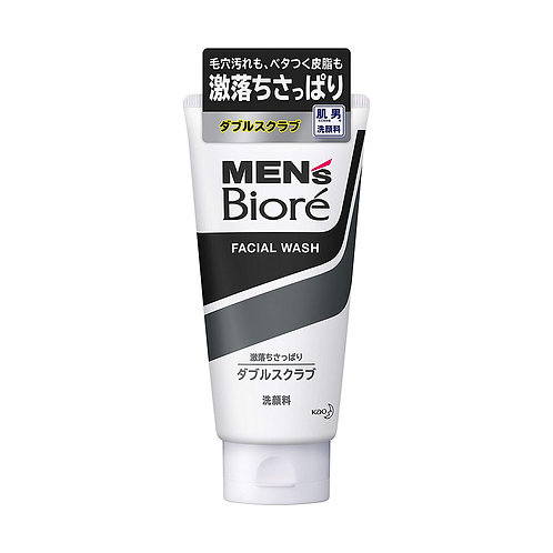 Bioré Men's Facial Wash Double Scrub
