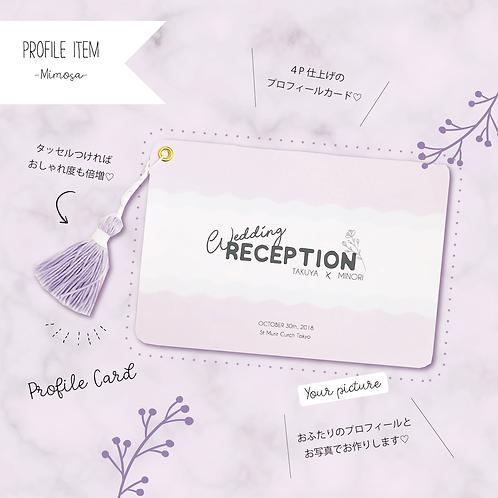 プロフィールカード -Mimosa- 30部set