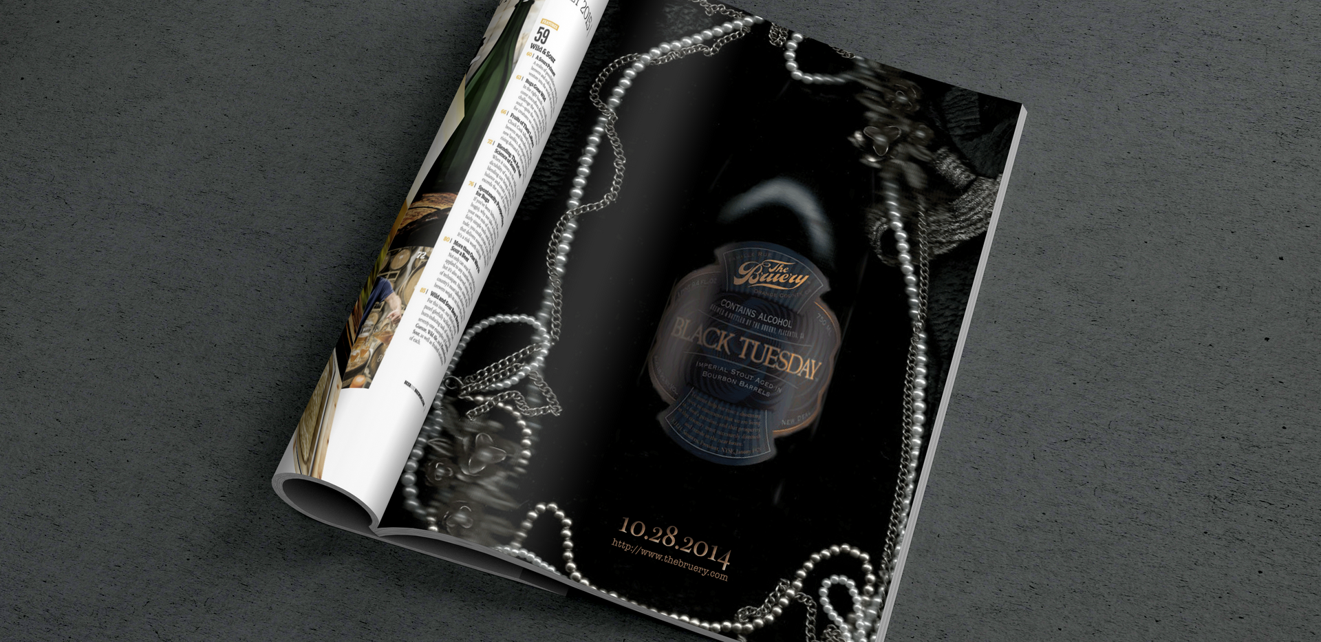THE BRUERY  |  Black Tuesday Mag Mock-up