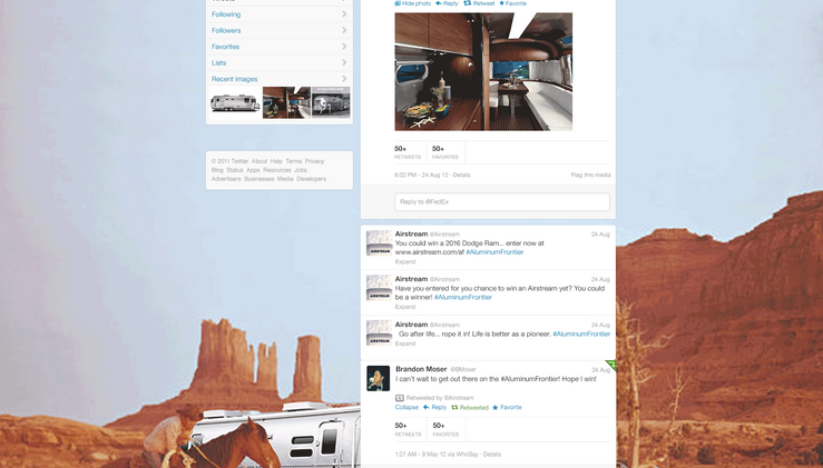 AIRSTREAM  | Twitter Close-up