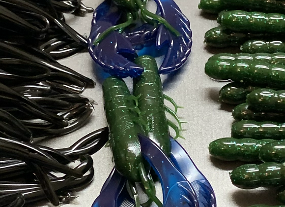 Watermelon Blue Papa Craw w/Blue Claws