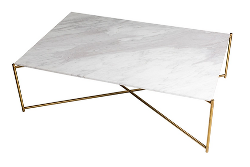 Iris Marble Rectangular Coffee Table