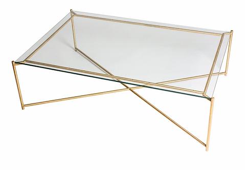 Iris  Glass Rectangular Coffee Table